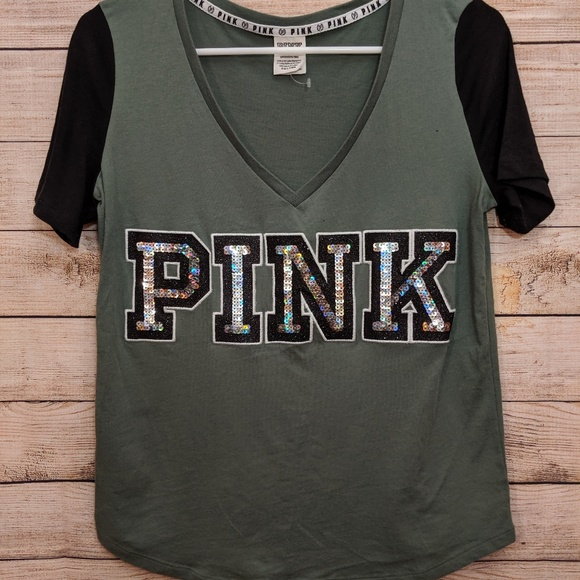 PINK Victoria's Secret Tops - Pink Victoria's Secret V-neck Tee